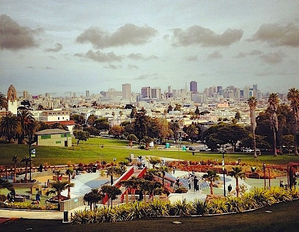 Utsikt over Dolores Park