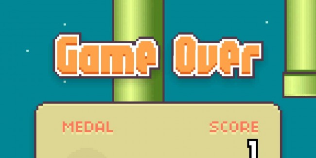 Flappy bird - game over